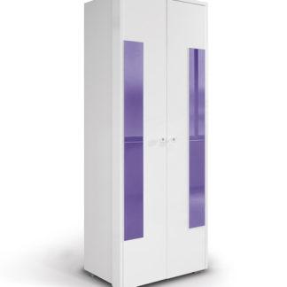 HAPPY, skříň 220 02V2F, bílá/fialová
