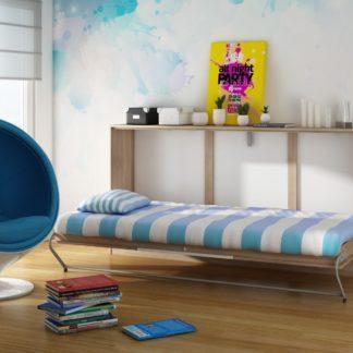 ROGER, multifunkční postel, dub sonoma/bílá