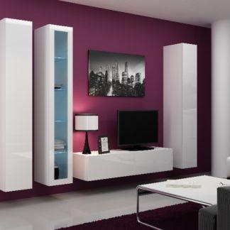 Obývací stěna VIGO 15, bílá/bílý lesk
