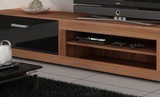 VIKI, televizní stolek 04, švestka wallis/černý lesk