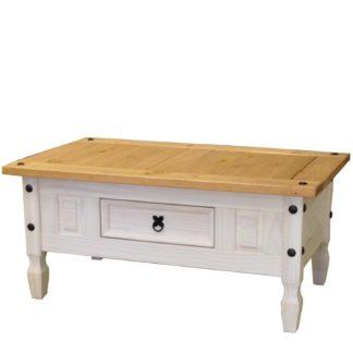 Konferenční stolek CORONA bílý vosk