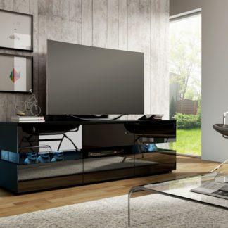 TV stolek INTER, černá/černý lesk