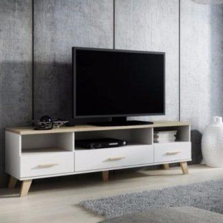 LOTTA televizní stolek RTV 180 3S3K, bílá/dub sonoma