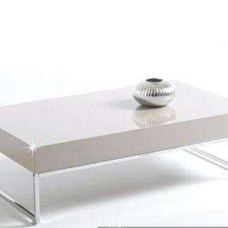 LOTTI konferenční stolek, chrom/bílý lesk