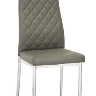 Jídelní čalouněná židle H-262, šedá