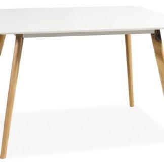 Jídelní stůl MILAN 140, bílá/dub
