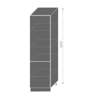 PLATINUM, potravinová skříň D14DP 60, korpus: grey, barva: deep red
