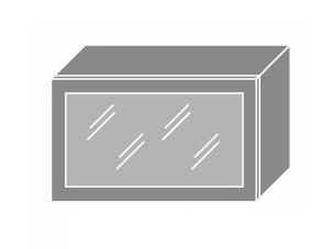 PLATINUM, skříňka horní prosklená W4bs 60 MDF, korpus: lava