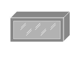 PLATINUM, skříňka horní prosklená W4bs 80 MDF, korpus: lava