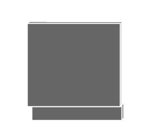 EMPORIUM, dvířka pro vestavby ZM-57/60, sokl lava, barva: light grey stone