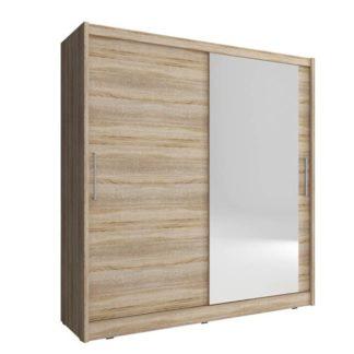 Skříň MAJA I se zrcadlem 180 cm, dub sonoma