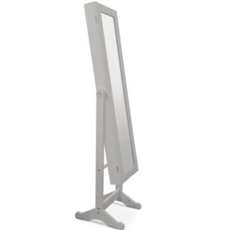 Zrcadlo s úložným prostorem MIROR, šedé