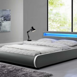 DULCEA čalouněná postel s roštem 180x200 cm, šedá