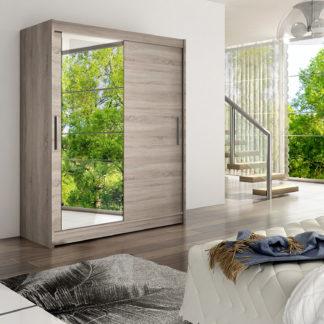 Šatní skříň WESTA VI, trufla/zrcadlo