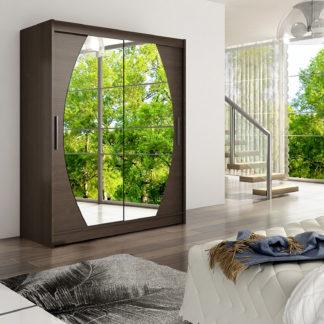 Šatní skříň WESTA VIII, choco/zrcadlo