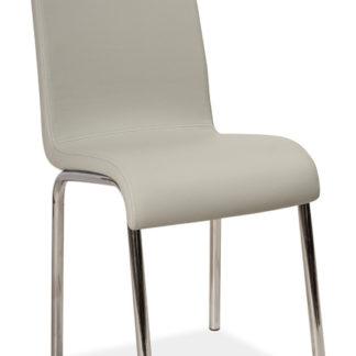 Jídelní čalouněná židle H-161, šedá/bílá