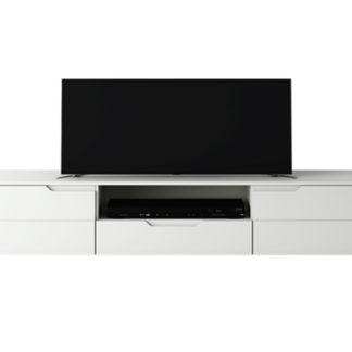 TV stolek RTV  HILTON HILF01, bílá/bílý lesk