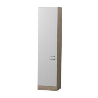 BORA potravinová skříňka P2 50, korpus dub bardolino/dvířka bílý lesk