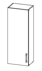 SOLE horní skříňka G40/95 levá, korpus wenge, dvířka bílý lesk