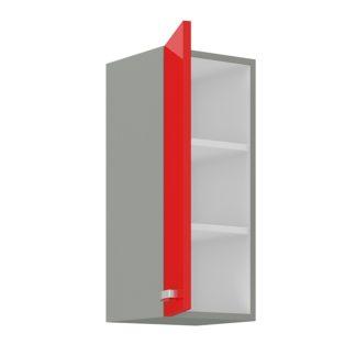 ROSE, skříňka horní 30 G-72 F, šedá / červený lesk
