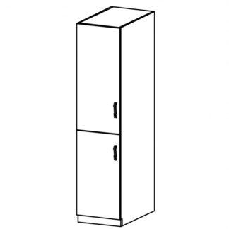 LUNA, vysoká skříňka D40SP levá, dub sonoma/ecru