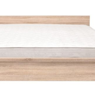 KASPIAN, postel LOZ/160 bez roštu, dub sonoma