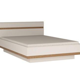 LINATE/91, postel 140 cm, alpská bílá/trufla