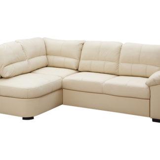 Kožená rohová sedačka AROSA, krémová, levá