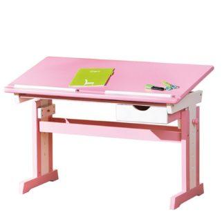 Dětský rostoucí psací stůl Cecilia, růžovo/bílý