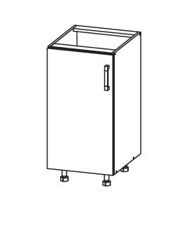 FIORE dolní skříňka D40, korpus congo, dvířka bílá supermat