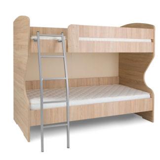 HAPPY, patrová postel, dub