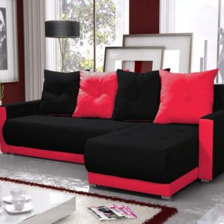 Rohová sedačka INSIGNIA BIS 1, černá/červená