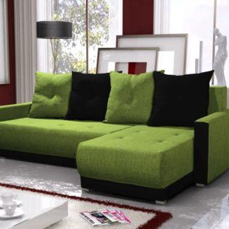 Rohová sedačka INSIGNIA BIS 4, zelená/černá