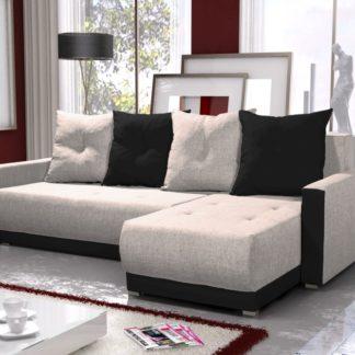 Rohová sedačka INSIGNIA BIS 7, krémová/černá