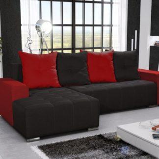 Rohová sedačka TELO 3 levá, černá/červená