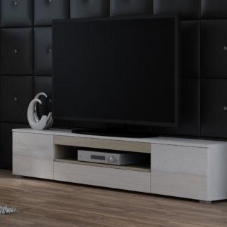 Televizní stolek RTV VIVA, bílá/dub sonoma