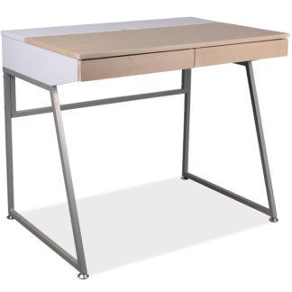 Psací stůl B-130, dub/bílá