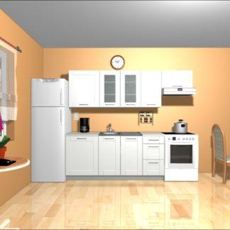 Kuchyně EDAN 180/240 cm, bílá canadian