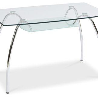 Jídelní stůl ARACHNE I, sklo/chrom