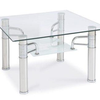 Konferenční stolek RENI D, kov/sklo