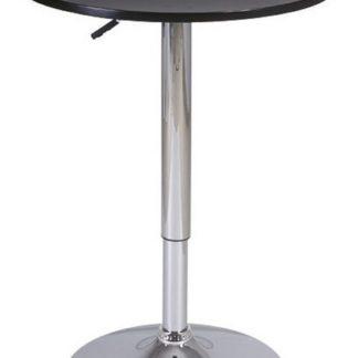 Barový stolek B-500, černá/chrom