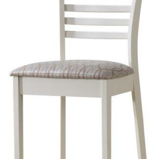 Jídelní čalouněná židle MA-SC, bílá
