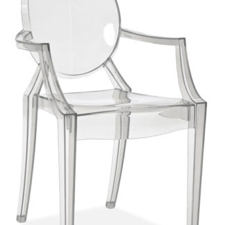 Židle LUIS, průhledná