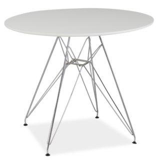 Jídelní stůl NITRO, bílá/chrom