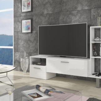 BEST televizní stolek, bílá/bílý lesk
