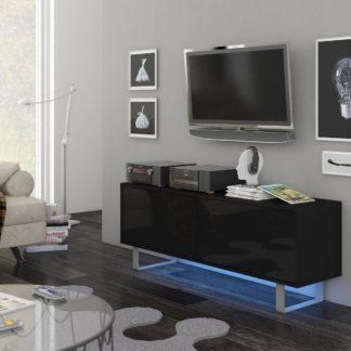 KING 1 TV stolek, černá/černý lesk