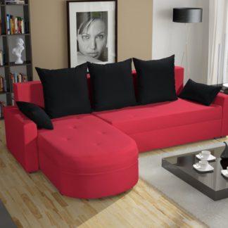 Rohová sedačka WENECJA PIK BIS 9, červená látka