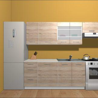 Kuchyně HAMPER 180/240 cm, dub san remo světlý