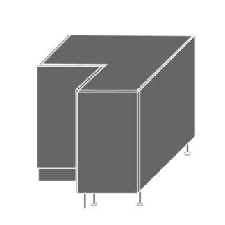 PLATINUM, skříňka dolní rohová D12 90, korpus: grey, barva: black stripes