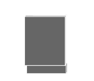 EMPORIUM, dvířka pro vestavby ZM-57/45, sokl lava, barva: light grey stone